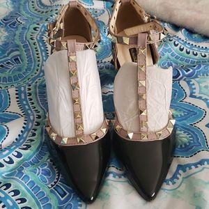 Patent Stud elegant shoes